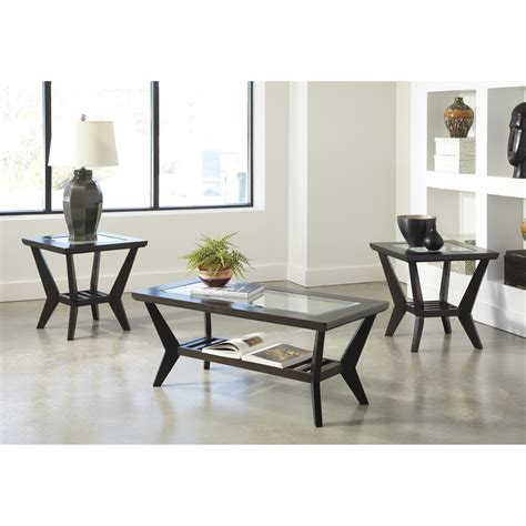 ( 3.8 ) out of 5 stars 112 ratings , based on 112 reviews current price $118.19 $ 118. Signature Design by Ashley 3 Piece Coffee Table Set in Brown & Reviews   Wayfair