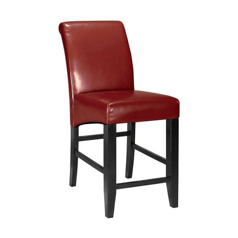 leather counter chairs home decorators collection parsons 25 25 in cushioned 3698