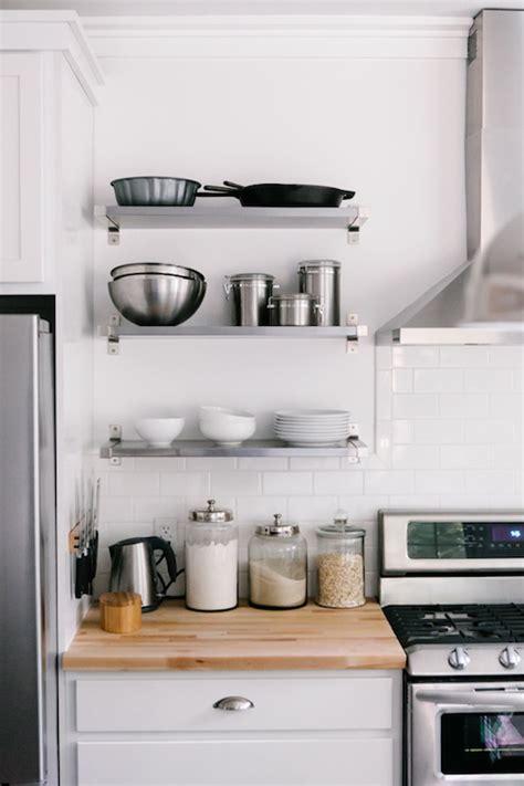 Ikea Ekby Mossby Shelf  Transitional  Kitchen  A Couple