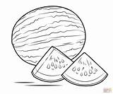 Watermelon Coloring Pages Drawing Printable Colouring Slice Clipart Melon Water Watermelons Supercoloring Paper Getdrawings Printables Categories sketch template