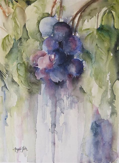 angela fehr water drenched floral  life paintings