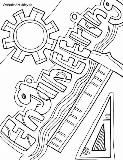Coloring Pages Engineering Binder Sheets Subject Printable