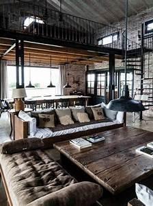 mille et une idees pour le salon style industriel en 44 With couleur mur salon tendance 18 la decoration avec un meuble aquarium archzine fr
