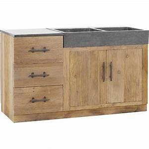 superbe meuble sous evier bois massif 4 cuisine gt With meuble sous evier bois massif