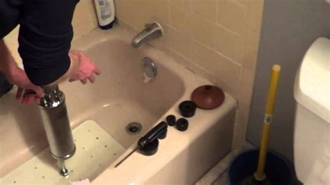 How To Unclog A Tub With Standing Water - how to unclog a bathtub drain with standing water