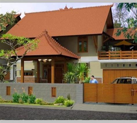 model teras rumah joglo modern minimalis  warna cat