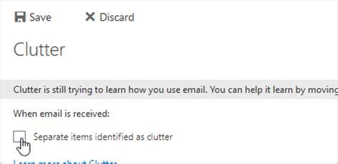 Office 365 Mail Going To Clutter by E Mail Going Into Clutter Franklin Energy Support