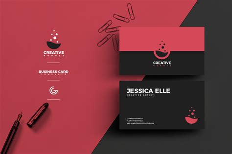 Free Creative Flat Business Card Design Template For Designers