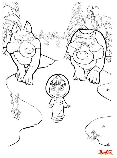 disegni di mascia e orso da colorare colora i simpatici disegni di masha e orso