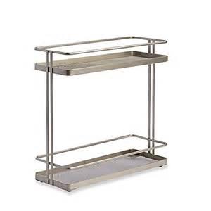 org 2 tier cabinet organizer in nickel bed bath beyond