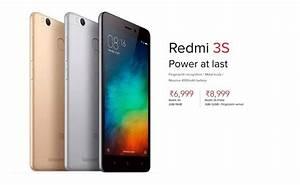 Xiaomi Redmi 3s Released In India With 4100mah Battery  Fingerprint Sensor