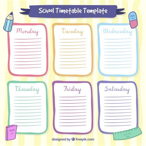 Famous Cute Timetable Template Image - Resume Template ...