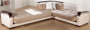 Natural naomi light brown sectional sofa by istikbal sunset for Moon sectional sofa sleeper