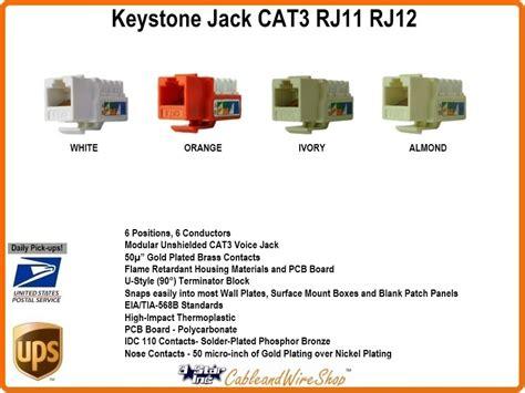 Cat 3 Wiring For Phone by Cat3 Rj11 Rj12 Keystone Voice Ivory U 3 Inc Logo