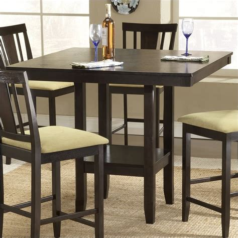 hillsdale arcadia  piece square counter height dining table set dtbsg