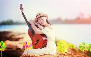 Woman playing the guitar wallpaper   girls   Wallpaper Better
