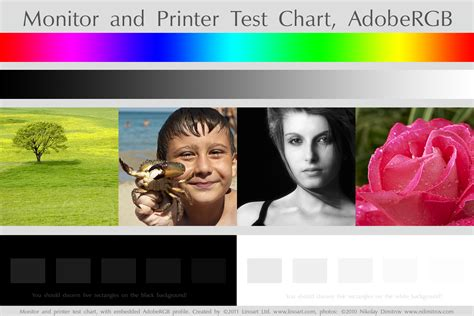 Free Monitor And Printer Test Chart