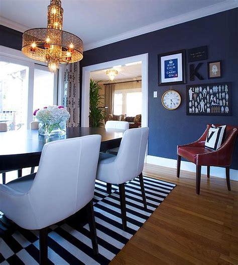 dining     navy blue dining room