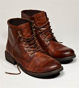 Mens Brown Dress Boots - Oasis amor Fashion