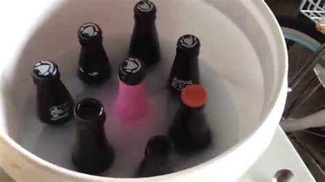 remove printed ink   beer bottle  star san