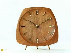 Mid Century Möbel : mid century dugena kienzle teak desk clock modern danish ~ A.2002-acura-tl-radio.info Haus und Dekorationen
