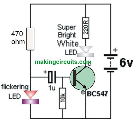 Simple Strobe Light Circuit Leds Strobing