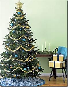 Decorating a Christmas Tree in Blue Green and Red