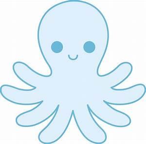 Blue Octopus Cartoon - Cliparts.co