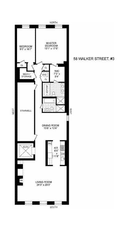 Plans Floor Loft Nyc Walker Apartment Apartments