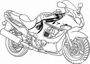 98 Dessins De Coloriage Moto Police Imprimer