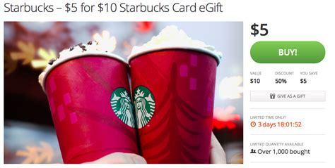 Maybe you would like to learn more about one of these? Starbucks Groupon: $5 for $10! | Starbucks card, Starbucks gift card, Starbucks