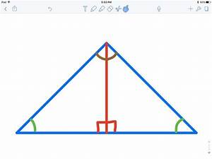 How To Work Out The Height Of An Isosceles Triangle