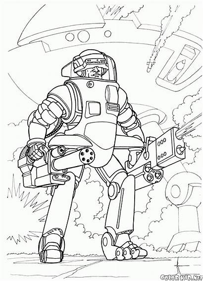 Coloring Pages Futuristic Wars Galactic Grunt Colorkid