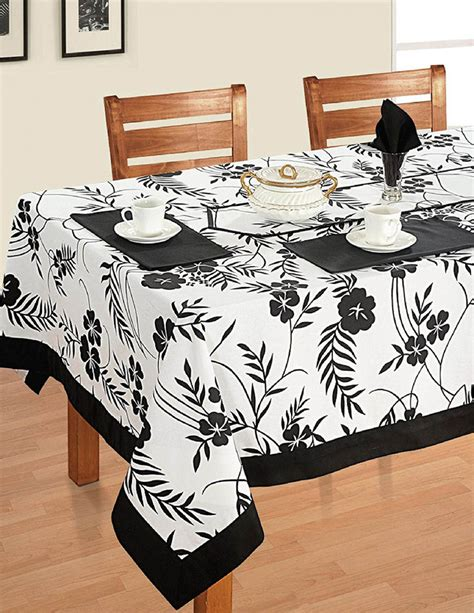 Rectangular Patio Tablecloth With Umbrella by Modern Black And White Rectangular Cotton Tablecloth