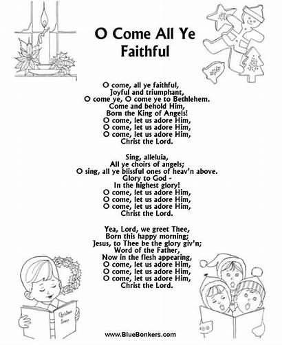 Lyrics Christmas Song Sheets Carol Ye Faithful