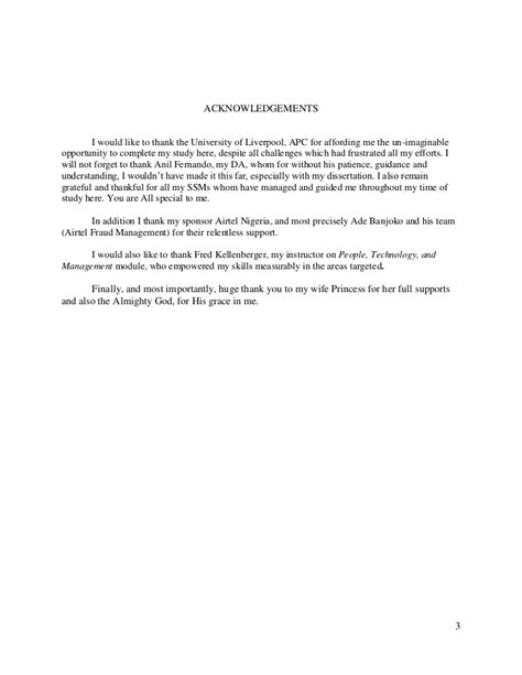 Writing acknowledgements for dissertation - Great College ...