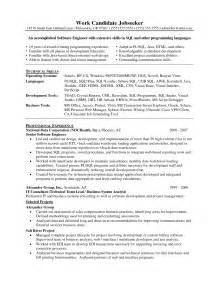 professional writing resume exles senior sales engineer resume