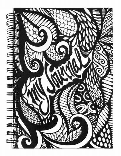 Journal Notebook Spiral Drawn Hand Lined Pages