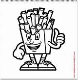 Coloring French Fries Google Plus Character sketch template