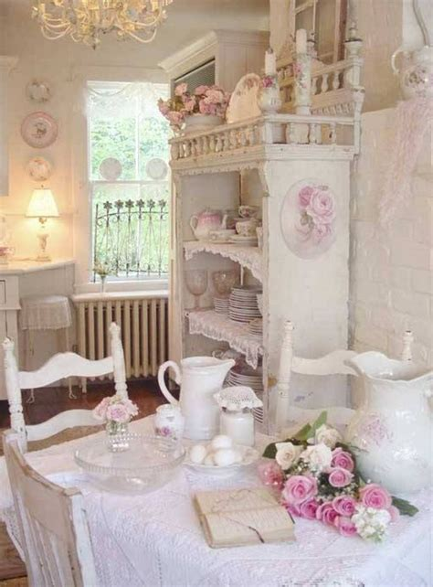 Shabby Chic by Pink And White Colour Scheme Shabby Chic Kitchen Ideas