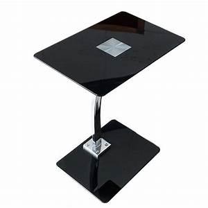 Tablett Tisch Schwarz : beistelltisch james schwarz glas 58 cm laptop tablett tisch ebay ~ Whattoseeinmadrid.com Haus und Dekorationen