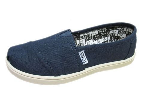 new youth boys toms classics navy canvas original so