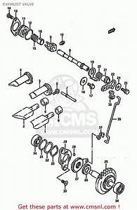 Suzuki Rm125 1993  P  Exhaust Valve