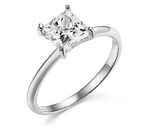 1 30 ct princess cut solitaire engagement wedding ring real solid 14k white gold ebay