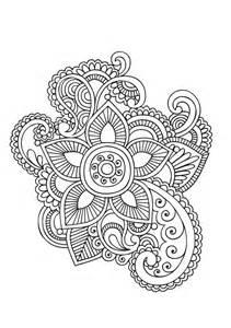 Paisley Mandala Coloring Pages Adult