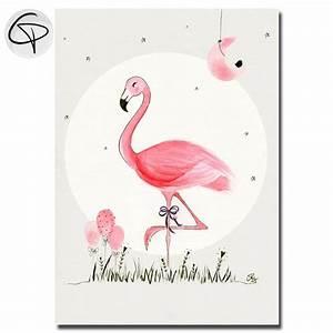 affiche flamant rose cadeau de naissance original pour fille With affiche chambre bébé avec un bouquet de roses
