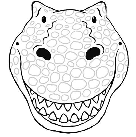 Kleurplaat Dino Masker by Dinosaur Mask Template Print Nextinvitation Templates
