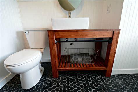 modern farmhouse bathroom vanity tutorial decor and the