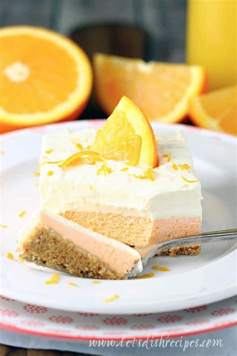 orange creamsicle dessert bars lets dish recipes