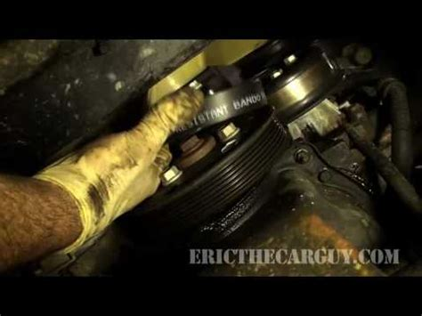 replace  serpentine belt ericthecarguy youtube